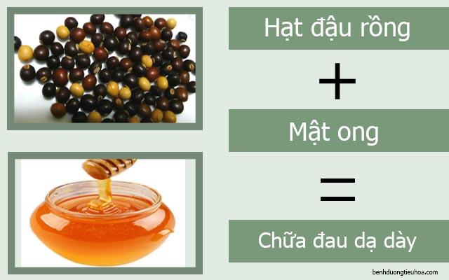 chữa đau dạ dày bằng đậu rồng và mật ong