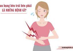 bị đau bụng ở bên trái hoặc bên phải là bệnh gì
