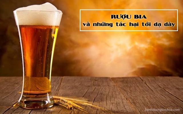 uống rượu bia sẽ có hại cho dạ dày