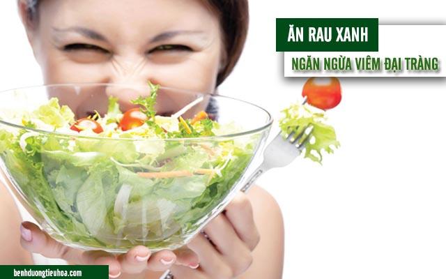 ăn rau xanh giúp ngừa bệnh viêm đại tràng