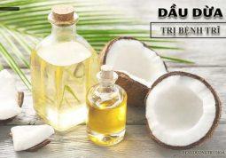 chữa bệnh trĩ bằng dầu dừa