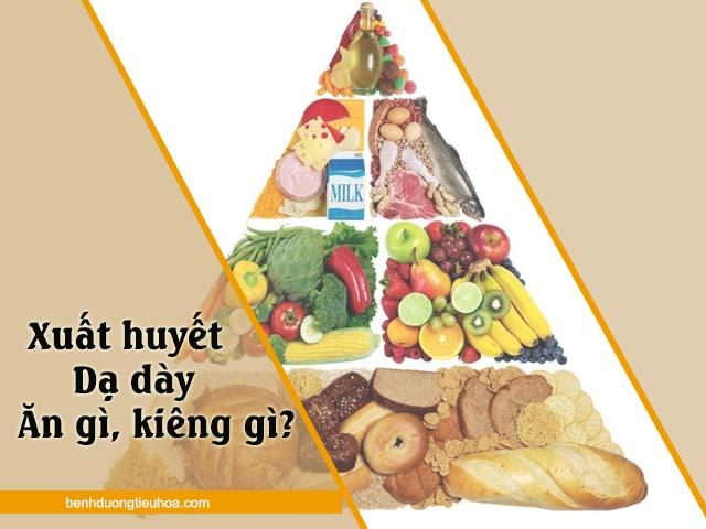 xuất huyết dạ dày nên ăn gì và kiêng ăn gì