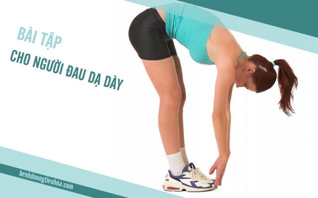 bài tập thể dục cho người đau dạ dày