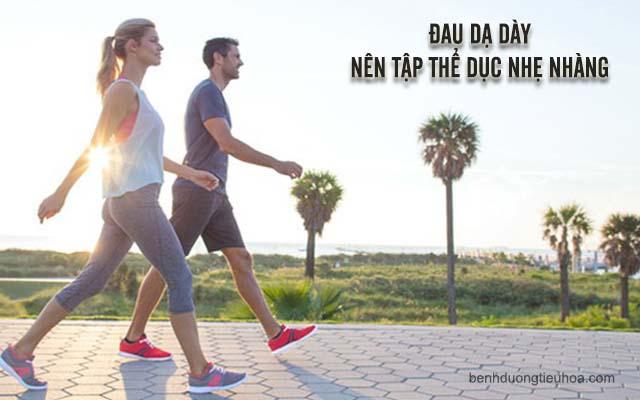 đau dạ dày có thể tập thể dục