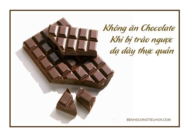 trào ngược dạ dày thực quản cần kiêng ăn chocolate