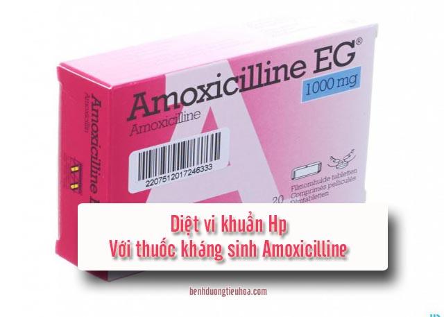 dùng Amoxicilline để tiêu diệt vi khuẩn Hp