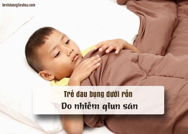 đau bụng dưới rốn ở trẻ do nhiễm giun sán
