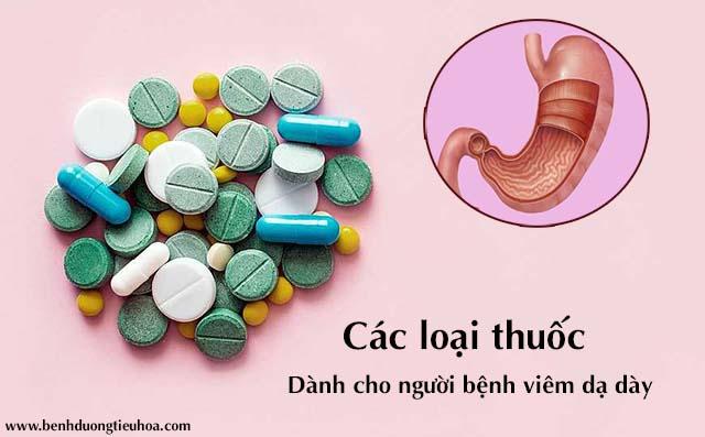 Thuốc điều trị viêm dạ dày