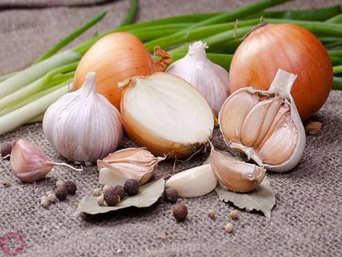 Hành, tỏi - Những loại gia vị tốt cho người ung thu dạ dày