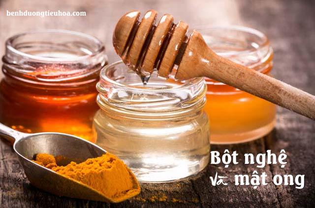 Chữa đau dạ dày bằng bột nghệ và mật ong