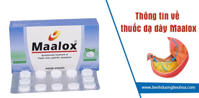 Thông tin về thuốc dạ dày Maalox