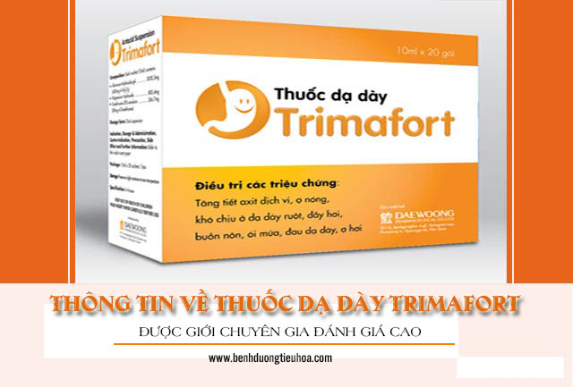 Thông tin về thuốc dạ dày Trimafort