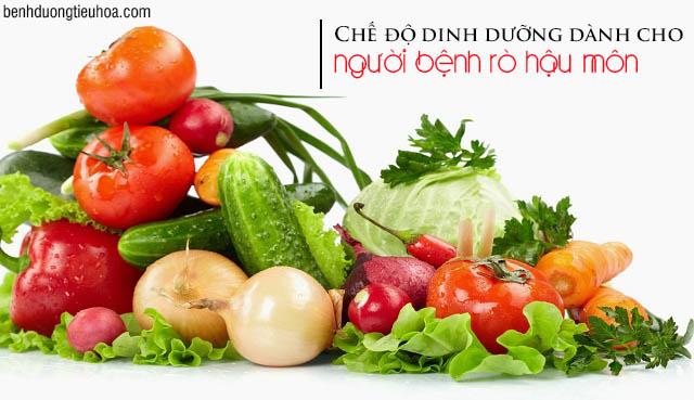 Bệnh rò hậu môn cần bổ sung nhiều rau xanh, trái cây