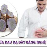 chữa đau dạ dày bằng nghệ đen