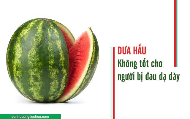 không nên ăn dưa hấu khi bị đau dạ dày