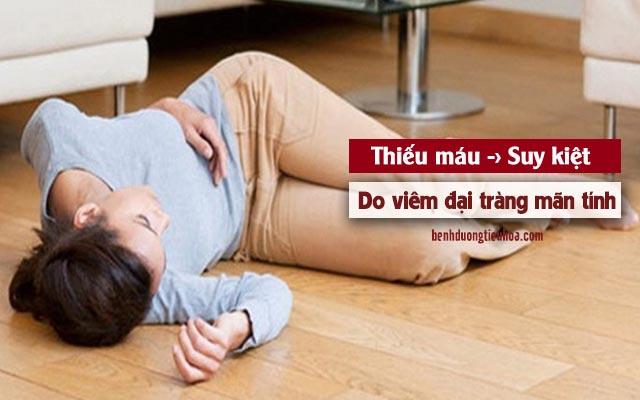 viêm đại tràng mãn tính gây thiếu máu nội tạng