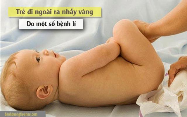 các bệnh khiến bé đi ngoài ra chất nhầy màu vàng