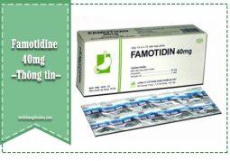 thông tin về Famotidine 40mg