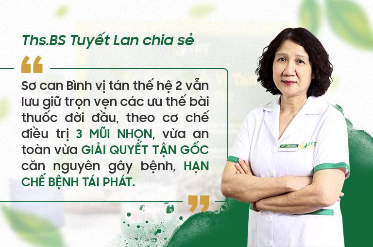 Ths.bs Tuyết Lan đưa ra ý kiến về bài thuốc thế hệ 2