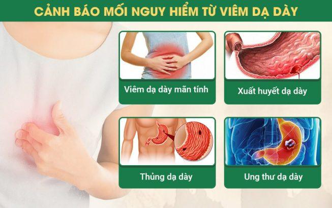 Những căn bệnh nguy hại do đau dạ dày gây ra