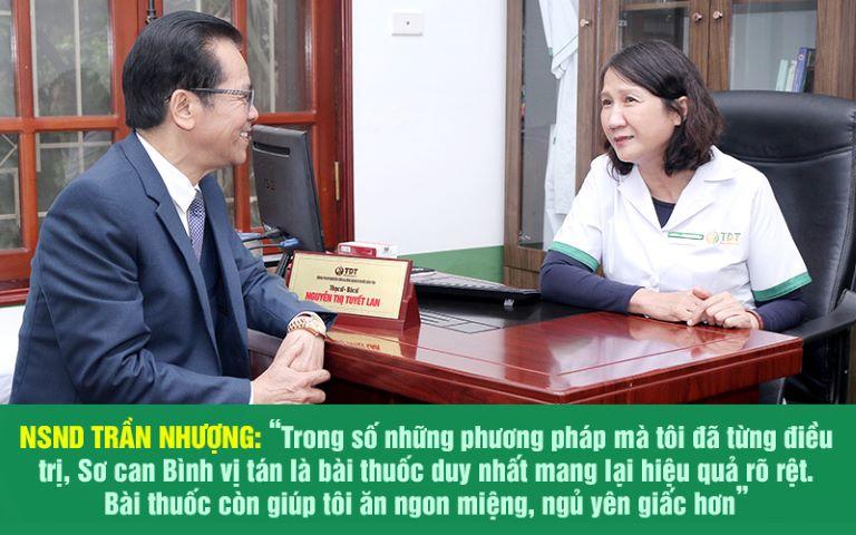 NSND Trần Nhượng đã điều trị thành công bệnh dạ dày nhờ Sơ can Bình vị tán