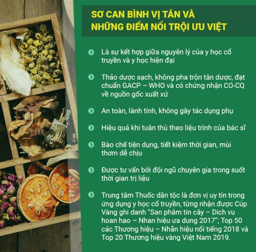 uu diem vuot troi cua bai thuoc So can Binh vi tan