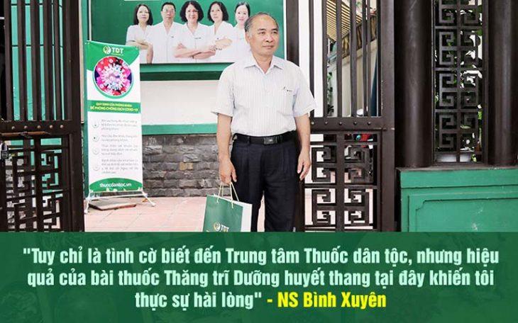 Nghệ sĩ Bình Xuyên hài lòng về hiệu quả điều trị bệnh trĩ tại Thuốc dân tộc
