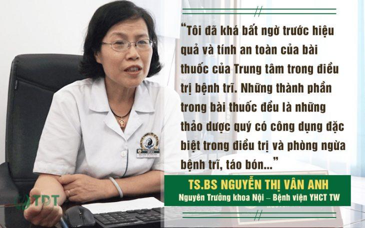 Ts.Bs Nguyễn Thị Vân Anh đánh giá về Thăng trĩ Dưỡng huyết thang