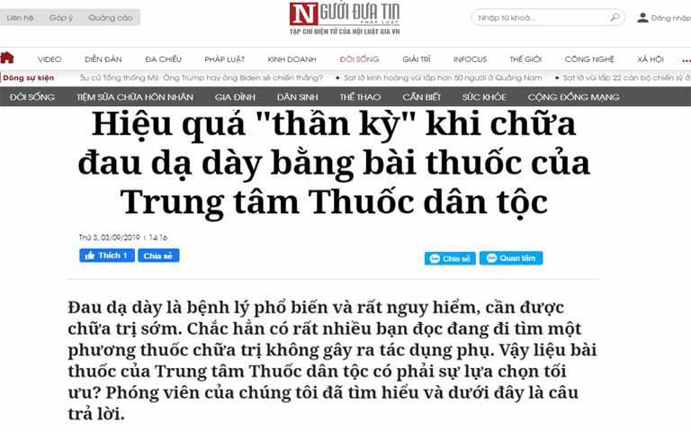 Báo chí giới thiệu về Thuốc dân tộc