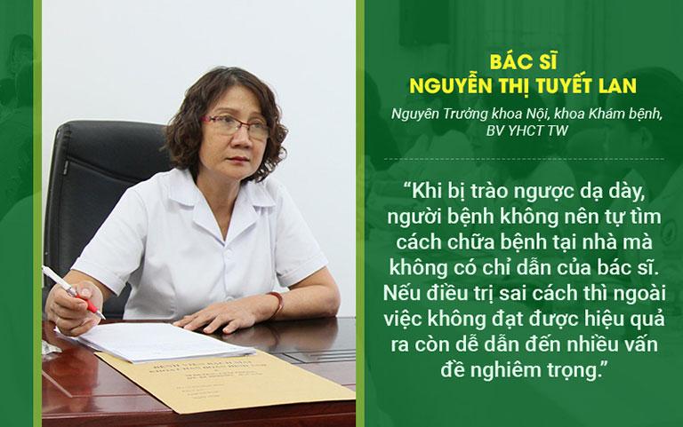 Bác sĩ Tuyết Lan chia sẻ về việc điều trị trào ngược dạ dày