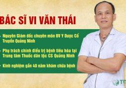 Bác sĩ Vi Văn Thái, chuyên gia đầu ngành YHCT