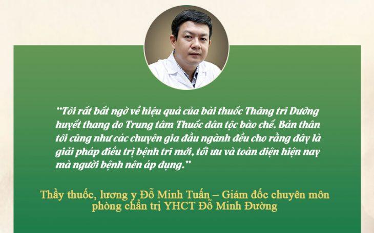 Nhận xét của bác sĩ Đỗ Minh Tuấn về bài thuốc chữa trĩ Thăng trĩ Dưỡng huyết thang
