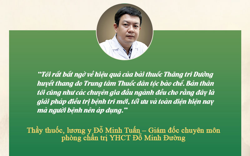 Nhận xét của bác sĩ Đỗ Minh Tuấn về bài thuốc chữa trĩ của Trung tâm Thuốc dân tộc