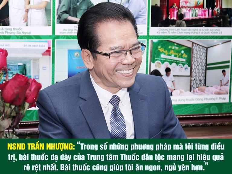 Đánh giá tích cực từ NS Trần Nhượng về bài thuốc