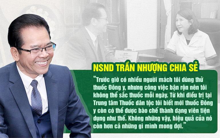 Nghệ sĩ Trần Nhượng chia sẻ về ưu điểm bài thuốc