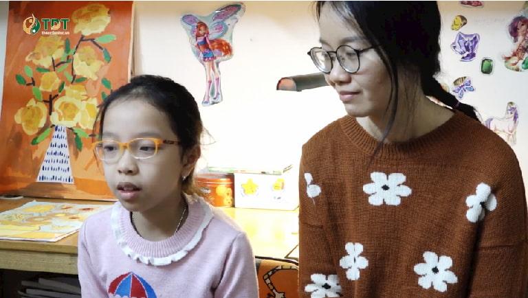 Chị LâmThanh và bé Tùng Chi