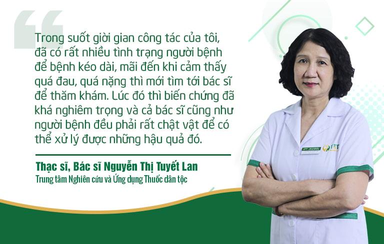 BS Tuyết Lan chia sẻ thực tế kinh nghiệm khám chữa cho người bệnh của mình